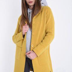 Abrigo amarillo mostaza