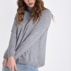Jersey de mohair gris